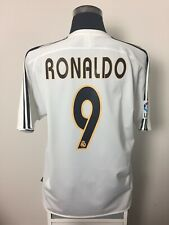 RONALDO #9 Real Madrid Home Football Shirt Jersey 2003/04 (L)