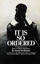It Is So Ordered by Daniel Berman (1966, Paperback)