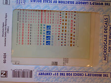 Microscale Decal #60-924 Decals for: Industrial Safety & Warning Signs