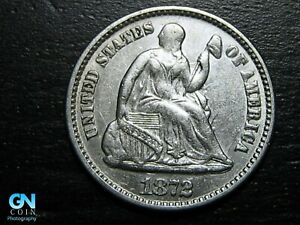 1872 P Seated Liberty Half Dime --  MAKE US AN OFFER!  #B7849