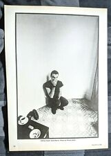 Talking Heads / David Byrne / 1984 Magazine Full Page Pinup Poster Clipping