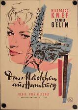 Das Mädchen aus Hamburg Filmposter A1 Hildegard Knef Lefebvre Sorano Gélin Rehak