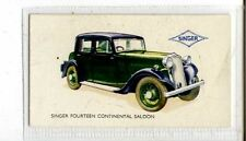 (Jb3885-100)  GALLAHER,MOTOR CARS,SINGER FOURTEEN CONTINENTAL SALOON,1934#5