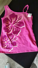 New Cute Summer Top With Sequins & Flowers Size 12 Extra Material Inside Top