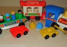 VINTAGE FISHER PRICE LITTLE PEOPLE PLAY FAMILY EXPRESS CHOO TRAIN #2581 COMPLETE