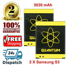 2X Quantum New Extended Slim 5030mAh Batteries for Samsung Galaxy S3 i9300