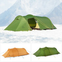 Naturehike Ultralight Family Camping Tent Tunnel Hiking Waterproof 2 3 4 Persons