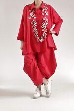 ♦ Kamuflage Hemd- Bluse Größe 44,46,48,50 rot A-Linie ♦