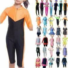 Islamic Modest Muslim Kid Girls Swimwear Swimsuit Slim Full Cover Clothes Set