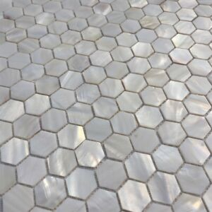 22Sheet Pure White Mother of Pearl Hexagon Shell Mosaic Backsplashes