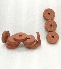 """Cork Rings 12 Superior Red Burl, 1 1/4"""" x 1/4"""" x 1/4"""", Excellant  Quality!!"""