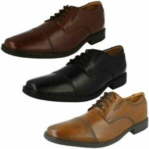 Mens Clarks Formal Lace Up Shoes 'Tilden Cap'