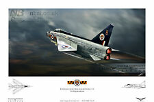 English Electric Lightning F.1, 74 Squadron, RAF Coltishall Digital Art Print