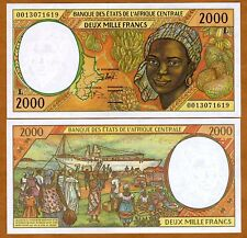 Central African States, GABON 2000 (2,000) Francs, 2000, P-403Lg, UNC > Colorful