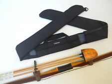 Traditional Archery CASE for LONG BOW w/ attached Quiver - Black Cordura  72""