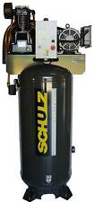 SCHULZ AIR COMPRESSOR - 7.5HP  SINGLE PHASE- 80 GALLON TANK - 30CFM - 175 PSI