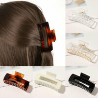 Oversize Hair Claw Clip Simple Rectangle Geometric Barrettes Hair Accessories