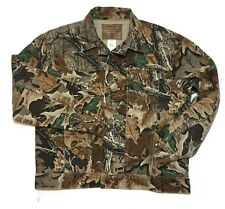 Wrangler Camouflage Jacket Large Trucker Hunting Denim Camo Vintage USA