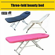 71''L Massage Table 3 Fold Portable Aluminium Frame SPA Facial Beauty Bed Tattoo