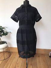 BNWT ASOS Premium Pencil Shirt Dress Broderie Sz UK 18 NEW Also 16