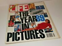 January, 1990 LIFE Magazine Year '89 in review FREE SHIP Jan 1 1989 yr 1980s