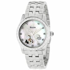 Bulova 96R122 Mother of Pearl Exhibition Heart Dial 44 Diamonds Automatic Watch