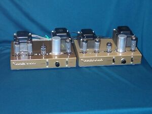Restored Pair Heathkit UA-1 Monoblock Amplifiers All Passive Components Replaced