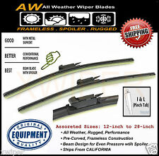 2PC BMW 128i 135i Direct OE Replacement ALL Weather Windshield Wiper Blades