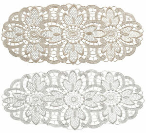 Floral Lace Oval Doilies Pack of 6 Traditional Doyleys Vintage Home Table Mat