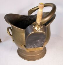 VINTAGE BRASS COAL SCUTTLE BUCKET planter