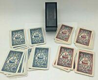 KEM Black Plastic Box Case Dale Nautical Ship Playing Cards Double Deck