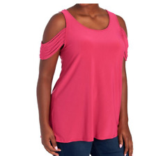 Karina & Chloe women's pink cold off the shoulder strappy short sleeves L $74