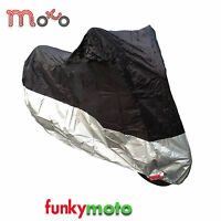 All Weather Motorcycle Cover Bike Scooter UV Dust Protection Large Upto 1000cc
