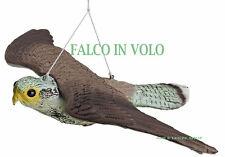 falco finto in plastica spaventa passeri uccelli storni piccioni orto balcone