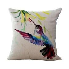1 - Hummingbird Bird With Flowers Pillow Case