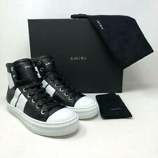 NIB Amiri Sunset' Black/White Leather Hi-Top Sneakers size:US9 EU39