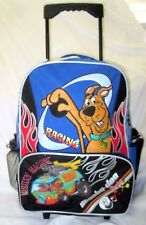 """SCOOBY DOO RACING MYSTERY MACHINE VAN 16"""" ROLLING BACKPACK WITH WATER BOTTLE-NEW"""
