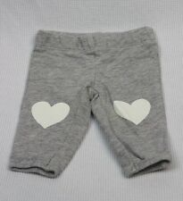 Girls CARTER'S Grey Pants with Hearts / size NB Newborn