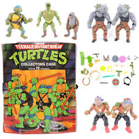 1988 Playmates TMNT Ninja Turtles and More with Collectors Case Vintage Toys