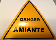 STICKER DANGER AMIANTE RETRO REFLECHISSANT SECURITE ENTREPRISE PICTOGRAMME