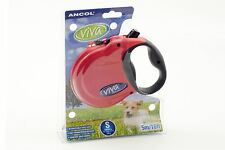 Ancol Viva Extend Dog Lead - Red - Small