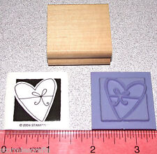 Stampin Up Occasionally Stamp Single Heart with a Bow Wedding Anniversary New