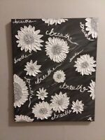 impasto palette knife textured flower breathe painting black and white original