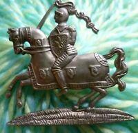 WW1 Fife and Forfar Yeomanry Regiment Cap Badge 2 Lugs ANTIQUE Original