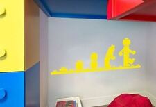 Lego Inspired Evolution Mini Figure Vinyl Wall Decal Sticker Decor