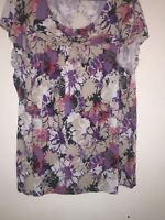 M&S patterned top size 18