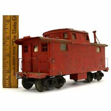 VTG/Antique WALTHERS No. 201 RED CABOOSE Wood & Metal O-GAUGE TRAIN Make Offers!