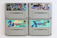 Lot of 4 Rockman 7 X X2 X3 Mega Man SFC Nintendo Super Famicom SNES Japan Import