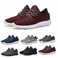Mens casual athletic breathable sports shoes boy's walking running jogger shoes