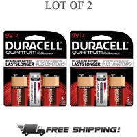 Duracell Quantum Batteries 9V Long Lasting Multipurpose Batteries Value 4 Pack
